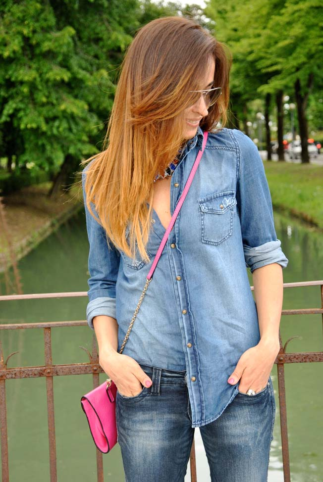 come-indossare-camicia-jeans