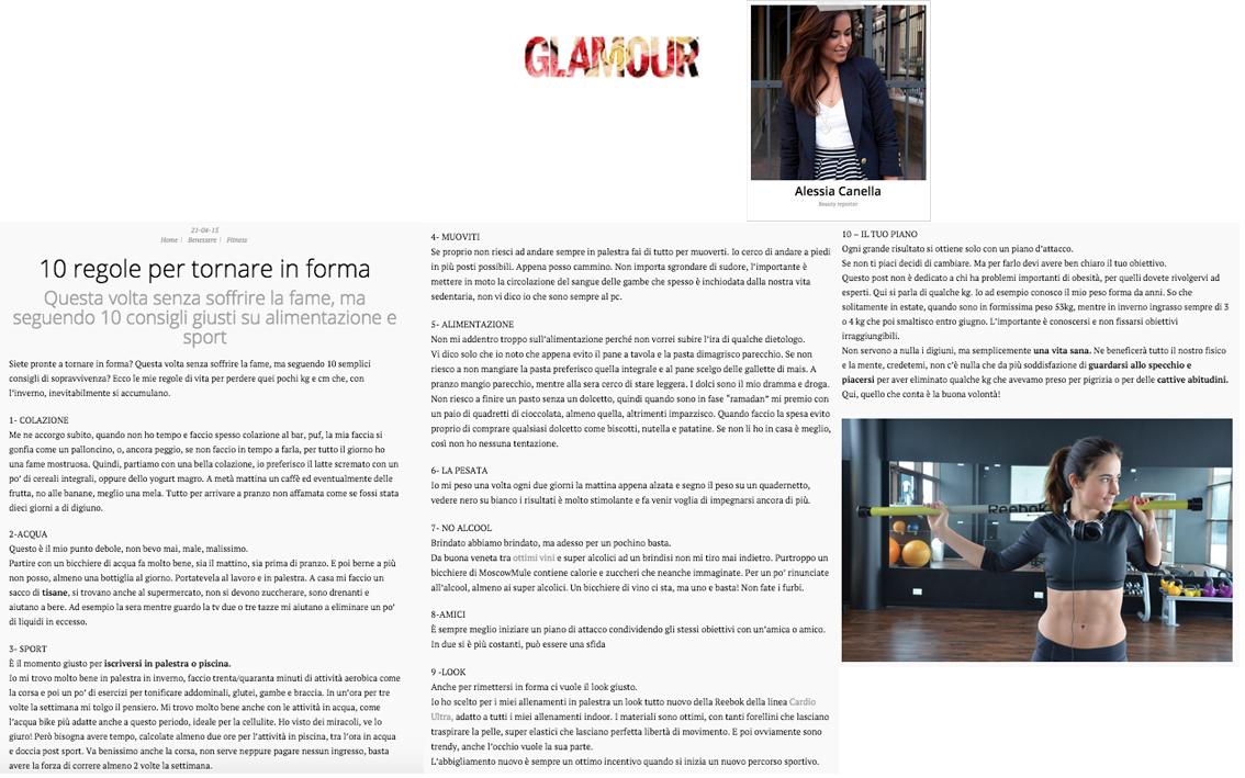 rassegna stampa 21 aprile glamour