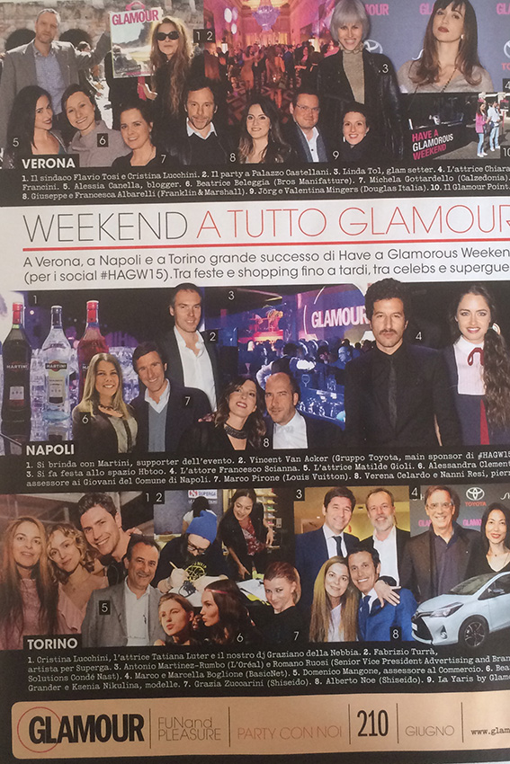 rassegna stampa glamour cartacea giugno 2015
