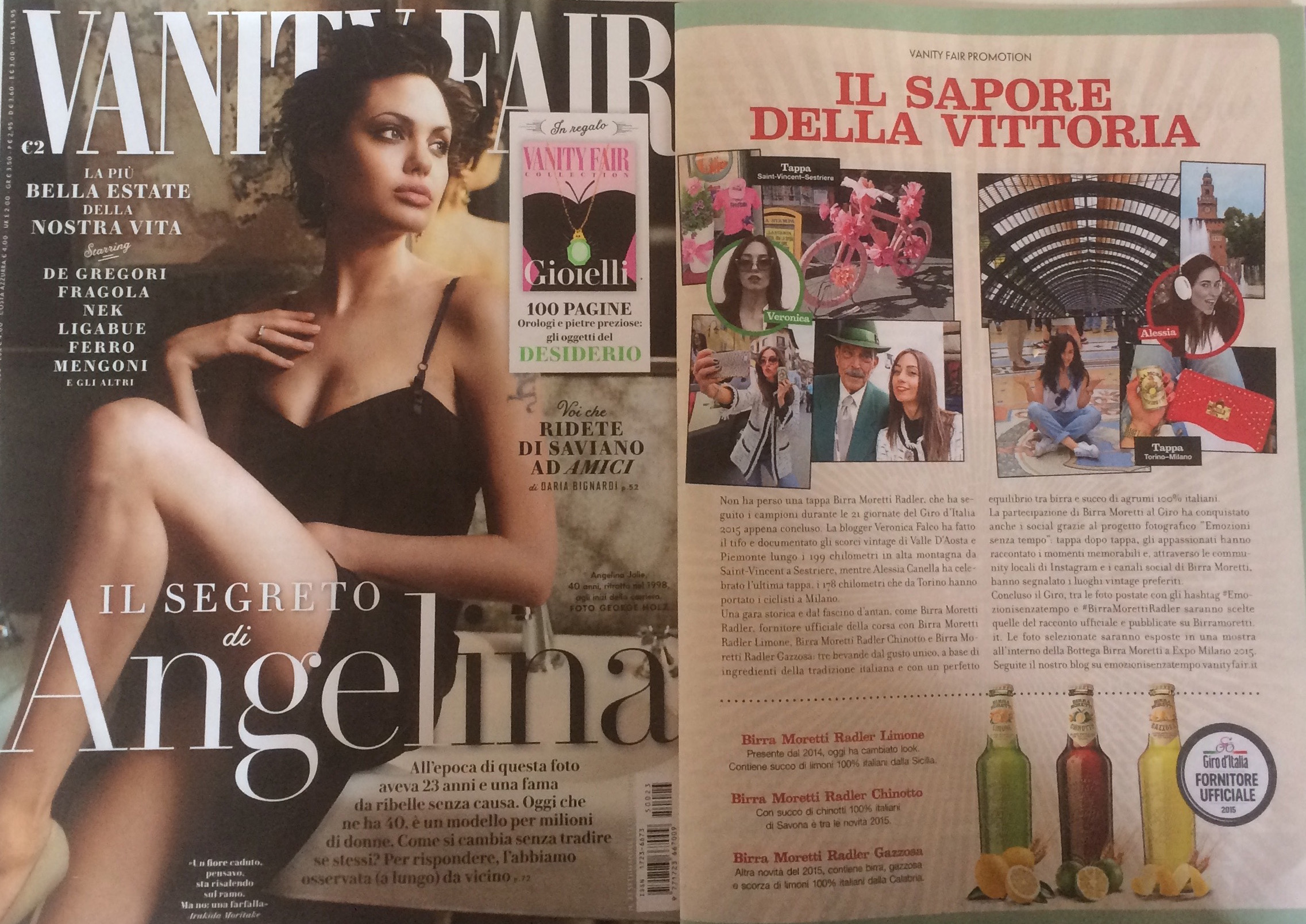rassegna stampa vanity fair cartaceo angelina