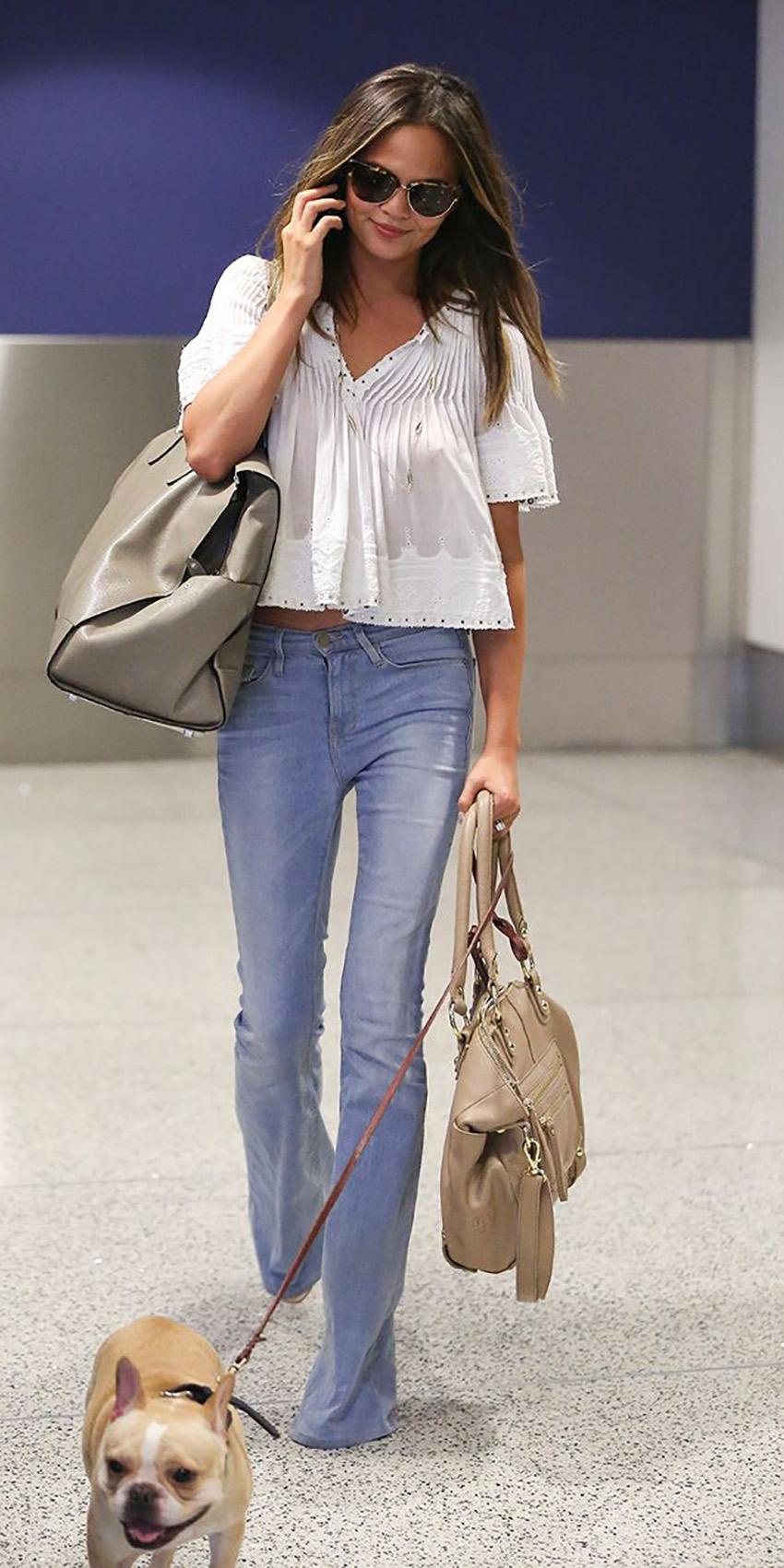 pantaloni-zampa-styleshouts-karlie-kloss-denim-white-shirt