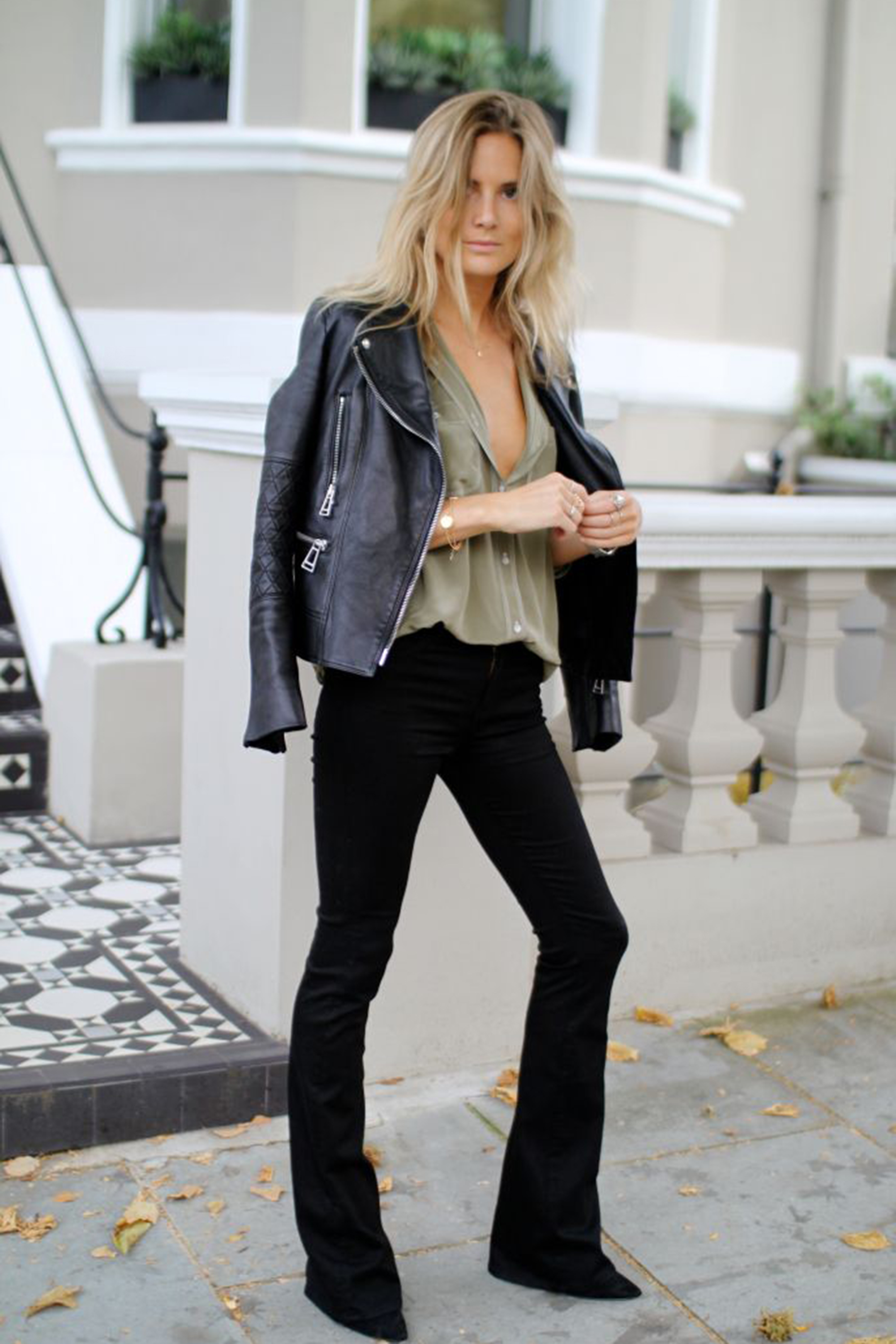 styleshouts-biker-jacket-denim-flared-jeans
