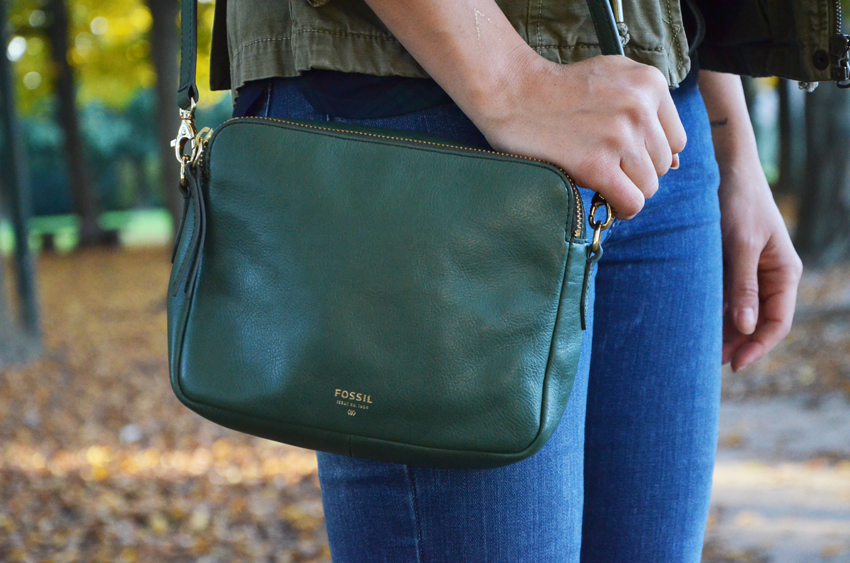 borsa fossil verde bag green