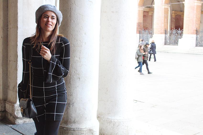 Alessia-canella-blogger-vestito-nero-righe