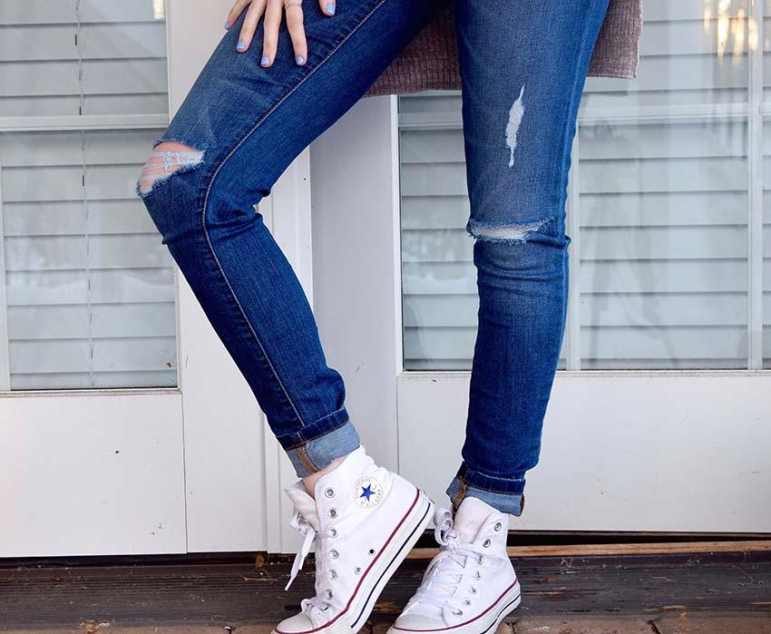 come_indossare_skinny_jeans