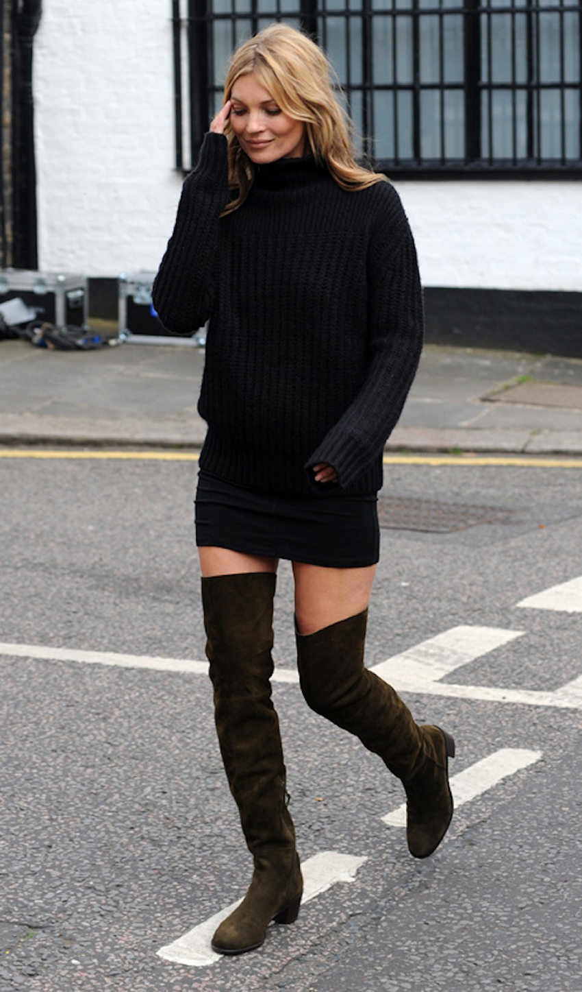 Kate Moss pictured filming