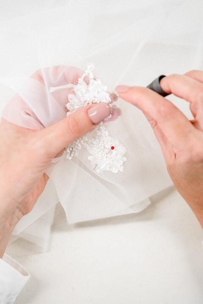 Produzione velo da sposa per matrimonio in inverno